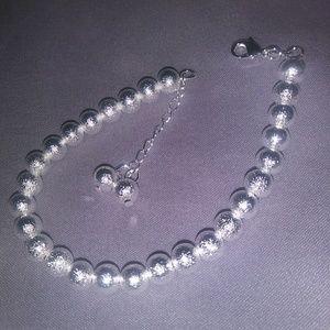 925 Textured Ball Beaded Bracelet